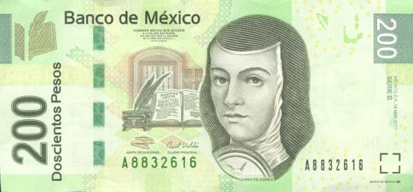 Billetes De Mexico. En el anverso del illete se
