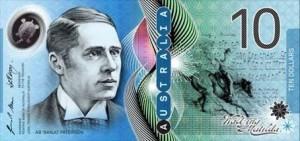 billetes australia 10 aud