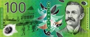 billetes australia 100 aud