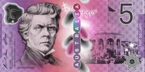 billetes australia 5 aud